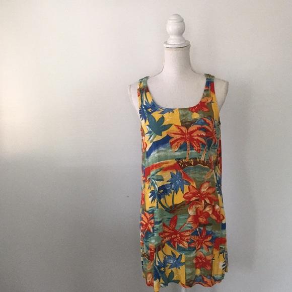 ad29f7377123d Vintage Palm Tree Print Swimsuit Swim Coverup. M_5c34ed2c194dad890d6a5026